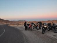 arrivo a Matmata con la suggestiva luce del tramonto